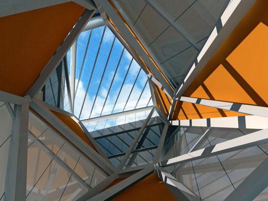 Imagen 3D del lucernario desde el interior