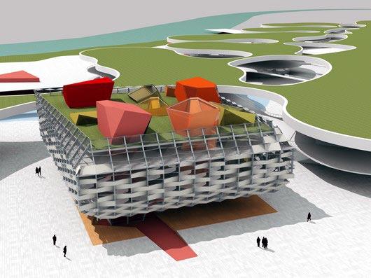 Imagen 3D exterior donde se aprecia la estructura